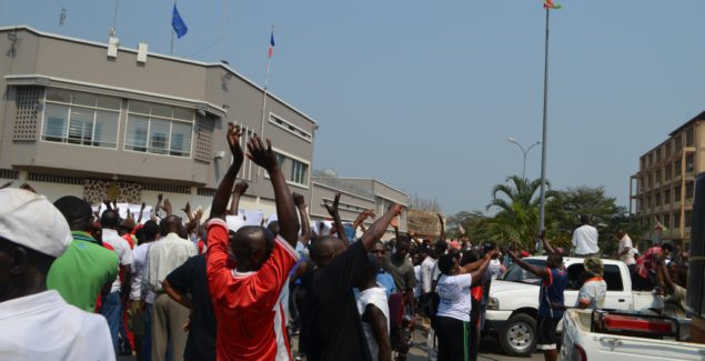 Demonstrations outside France Embassy after the UNSC vote for the 2303 resolution