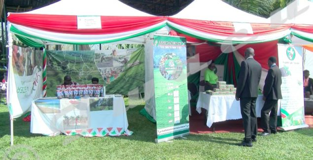 """Companies working in the artistic field, food processing, agribusiness and tourism exhibiting their products at """"Zion Beach"""" in Bujumbura"""