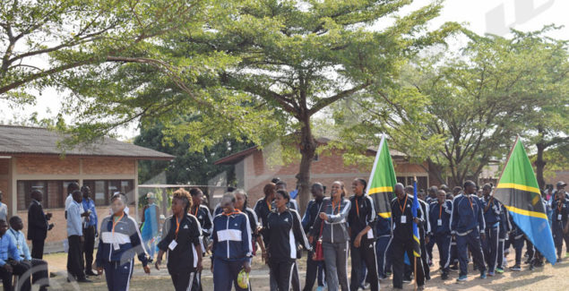 Only the Tanzanian delegation was present during the opening ceremonies of the tournament of the EAC games.