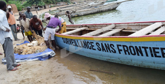 Seized mosquito nets and canoes are burnt