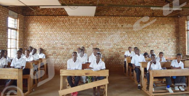 1st Scientific Section Class at Kayanza High School